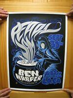 Pearl Jam Poster Ben Harper And The Relentless 7 Silk Screen Los Angeles