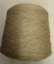 COTTON WOOL ACRYIC SILK 3500 YPP LACE CONE YARN 12 1/2 LBS BROWN BEIGE (C53A)