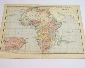SMALL MAP FROM AN 1895 WORLD ATLAS - MAP OF AFRICA.............65