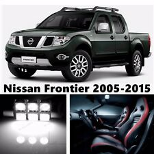8pcs LED Xenon White Light Interior Package Kit for Nissan Frontier 2005-2016