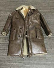 Custom 1/6 Scale Brown Leather Jacket For Hot Toys Bane TTM20 Figure Body