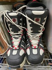 SIMS RC100M snowboarding  snow boots USA 11 EUR 44 UK10 black/white lace up ds17