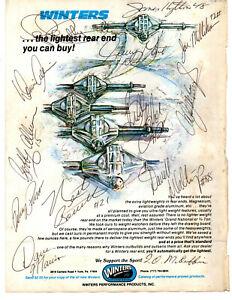1970's NASCAR original hand signed autographed Winters advert