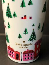 NEW KATE SPADE ~ NEW YORK 16 OZ HOLIDAY CHRISTMAS TUMBLER WITH LID CITY SCENE