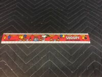 """VINTAGE Empire Pencil Co No 318 Snoopy And His Friends 12"""" Inch Ruler"""