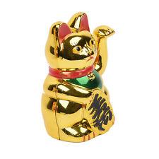 Maneki Neko Waving Cat Gold Home Shop Hotels Wealth Lucky Waving Feng Shui 8.6