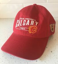 CALGARY FLAMES Adjustable Hat - Old Time Sports Cap NHL Hockey