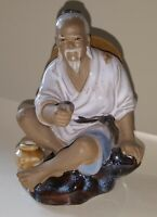 Chinese vintage Victorian oriental antique fisherman figurine ornament D