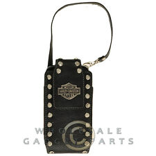 Harley-Davidson® Logo Vertical Black Wallet Case with Rhinestones Cover Shell