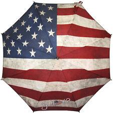 Y NOT? Automatik Minischirm Schirm Taschenschirm mit Flagge USA