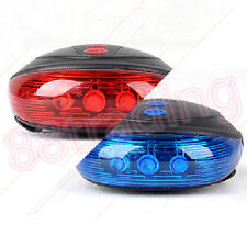Red 5 Bright LEDs Rear Lamp Torch Light for Mountain Bicycle with 2 Sides Laser