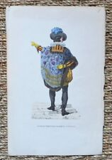 Lithography Watercoloured 19th - Henri Effiat ruze Coiffier