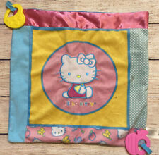 Sanrio Hello Kitty Teether Security Blanket Baby Lovey Square Soft Toy Flaw