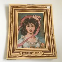"PINKIE Needlepoint Kit Canvas TAPEX VIENNA Austria Hand Printed 7"" X 9.5"""
