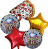 5PCES PIZZA HAPPY BIRTHDAY BALLOON PARTY SUPPLIES CENTERPIECE DECORATION GIFT