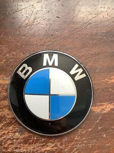 BMW Badge. 82mm.  Round Emblem Badge. Used. Genuine BMW Part