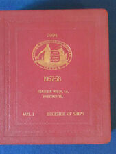 Lloyd's Register of Ships 1957/58 - Vol 1 - Vintage Hardback Book - Shipping