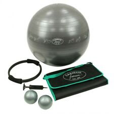 Carnegie Fitness Set - Ballon de gymnastique Balles de poids Tapis de yoga Pompe