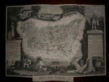 CARTE GEOGRAPHIQUE PUBLIE PAR COMBETTE 1845 / DEPARTEMENT DES VOSGES