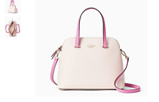 NWT Kate Spade Maise Medium Dome Satchel Shoulder Bag Peach Puff Pink NEW $299