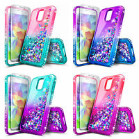 Samsung Galaxy S5 Case | Liquid Glitter Bling TPU Cover + Screen Protector