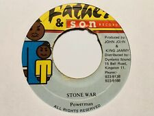 "Powerman ""Stone War"" and ""Stone War Version"" Father & Son Records Reggae Import"