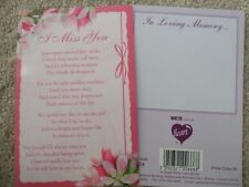 "IN LOVING MEMORY ""I MISS YOU"" GRAVESIDE MEMORIAL CARD"