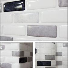 """5.3""""/13.4cm Beauty Safe Foil On Fire Easy 3D Tile Wallpaper Sticker SAMPLE Gray"""