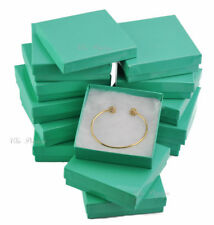 12pc Teal Gift Boxes Teal Cotton Filled Jewelry Boxes Green Bracelet Gift Boxes