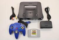 NINTENDO 64 Black Console Paper Mario Cont 7/10 N64 NTSC Import REGION FREE J721