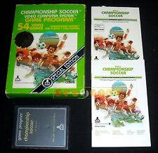 CHAMPIONSHIP SOCCER Atari Vcs 2600 Versione Europea (Pele's) ••••• COMPLETO