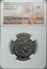 Egypt, Alexandria Commodus Bl Tetradrachm NGC VF Ancient Coin