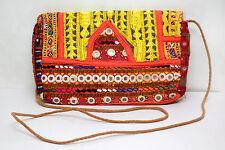 Vintage Handmade Jaipur Handbag with Antique Embroidery and Tassel