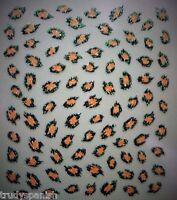 Nail Art Stickers Decals Transfers in Cheetah Print Leopard Print Spots - NEW
