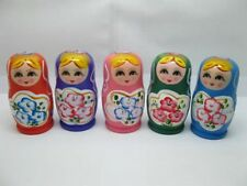 10Sets Russian Wooden 5 Nesting Dolls toy-o3