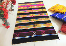 Moroccan Berber Rug Handmade Authentic Cotton Kilim Ethnic Carpet