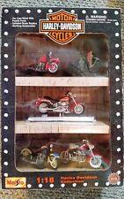 Harley-Davidson Motorcycles 1999 Die Cast Metal, 1:18 Scale Replica, 5 Bikes