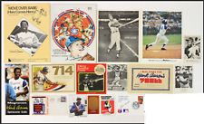 16 piece 1950's-70's Hank Aaron Milwaukee Atlanta Braves Memorabilia Collection