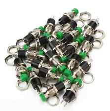 Miniatur Taster Drucktaster Schließer Metall 125-250V 0.5A 7mm Grün 20stk