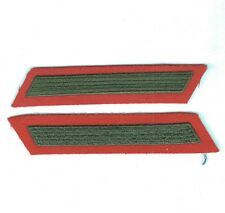 USMC Marine Corps Enlistment Stripe:  4 Years (1 stripe) - red, pair