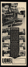 1940 LIONEL Model Trains - Greatest Thrill On Wheels - Father & Son - VINTAGE AD