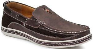 Men Brixton Boat Shoes Driving Moccasins Slip On Loafers Size 7.5--13