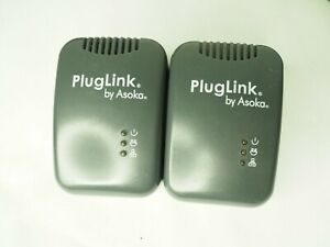 Lot of 2 PlugLink by Asoka 9650 Ethernet Adapter PL9650-ETH
