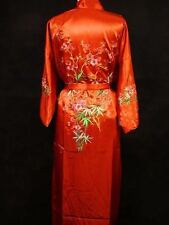 SIZE 10 CHINESE BLOSSOM WOMENS LADIES RED SATIN FULLY LINED ROBE/DRESSING GOWN