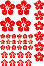 FLOWERS (B) set of 36 CAMPER  CAR WINDOW BUMPER SCOOTER STICKER DECAL