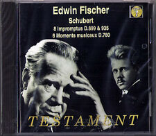 Edwin Fischer: Schubert 8 imprompus Moments lmprowisi d.899 935 780 CD testamento