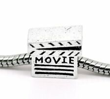 """Movie Clapper Board"" Bead Charm for Snake Chain Charm Bracelet"