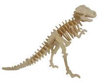 Tyrannosaurus Dinosaur 3D Wood Model Kit Jurassic Jigsaw Intelligence Puzzle