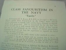 1938 - article class favouritism in the navy equity