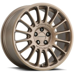 "Vision 477 Monaco 18x8 5x112 +38mm Bronze Wheel Rim 18"" Inch"
